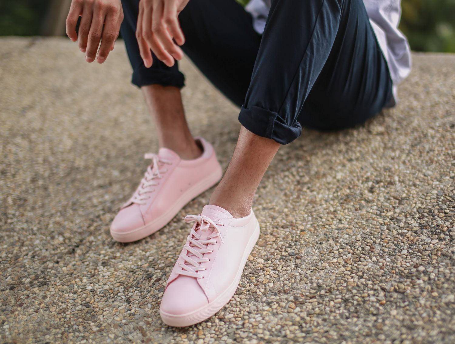 Sneaker Clae Bradley Light Pink Fg Leather