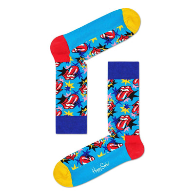 calze happy socks ROLLING STONES I GOT THE BLUES SOCK  TURCHESE, BLU, ROSSO, GIALLO
