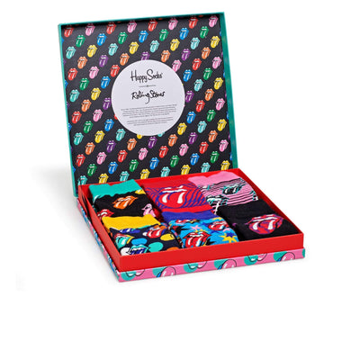 calze happy socks ROLLING STONES SOCK BOX SET MULTICOLORE
