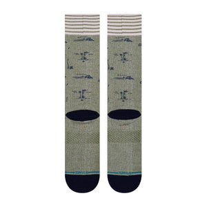 stance Isle Tropics Butter Blend Armygreen foto 3