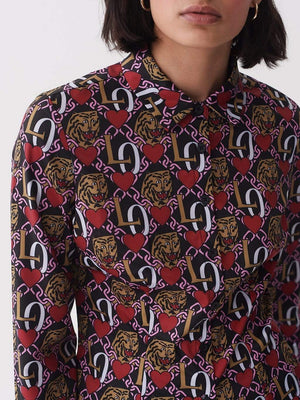Lazy oaf Oaf Tiger Crest Shirt Multi foto 4