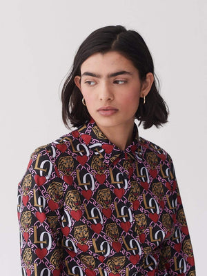 Lazy oaf Oaf Tiger Crest Shirt Multi foto 5