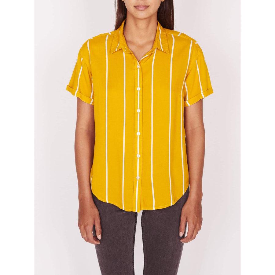 obey camicie,Baldwin Shirt Mustard Multi, image 1