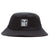cappelli obey ICON LABEL BUCKET HAT BLACK