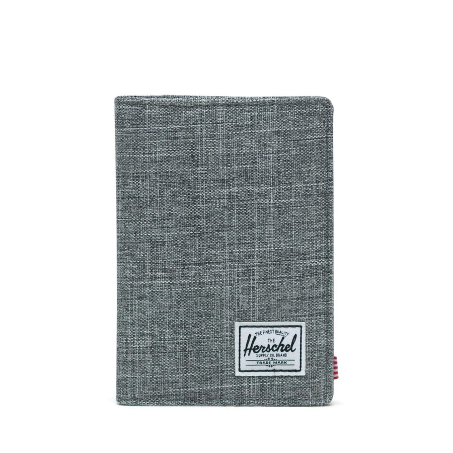 herschel custodie,Raynor Passport Holder Rfid Raven Crosshatch, image 1