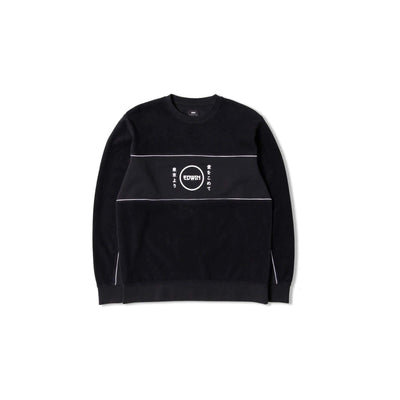 felpe edwin GANG SWEAT BLACK GARMENT WASH