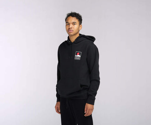 felpe edwin SUNSET ON MT. FUJI HOODIE SWEAT BLACK GARMENT WASH