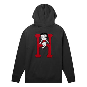 huf Betty Classic H P/O Hoodie Black foto 4