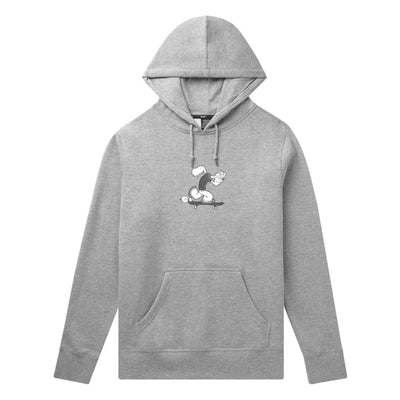 felpe huf POPEYE SKATES P/O HOODIE GREY HEATHER