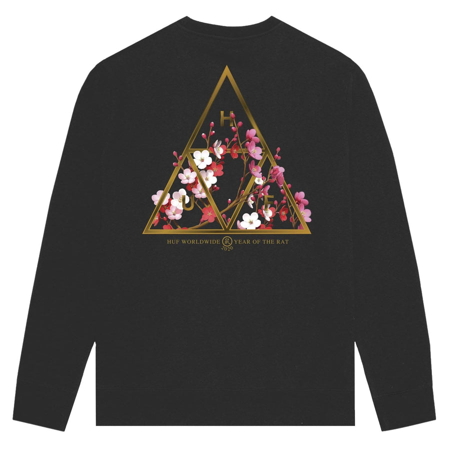 huf felpe,Year Of The Rat Tt Crewneck Black, image 1