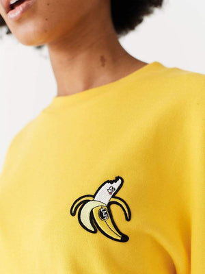 Lazy oaf Banana Sweatshirt Yellow foto 3