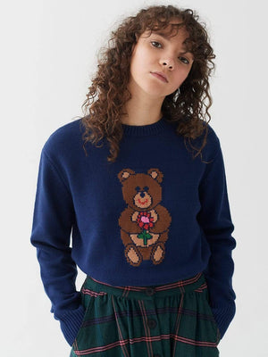 lazy oaf Bearing Gifts Jumper Blue foto 5