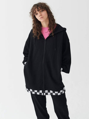 lazy oaf Happy Slouchy Hoodie Black foto 2