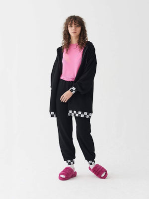 lazy oaf Happy Slouchy Hoodie Black foto 3