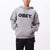 felpe obey BOLD BOX FIT HOODED FLEECE GREY HEATHER