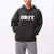 felpe obey BOLD BOX FIT HOODED FLEECE HUNTER GREEN