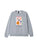 felpe obey FREEWILL BOX FIT CREW FLEECE GREY HEATHER