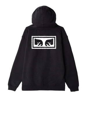 obey Obey Eyes 3 Basic Zip Hood Fleece Black foto 2