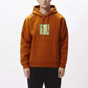 obey Stack Hood Fleece Pumpkin Spice foto 2