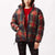 giacche obey IRVING PUFFY COAT BLACK MULTI
