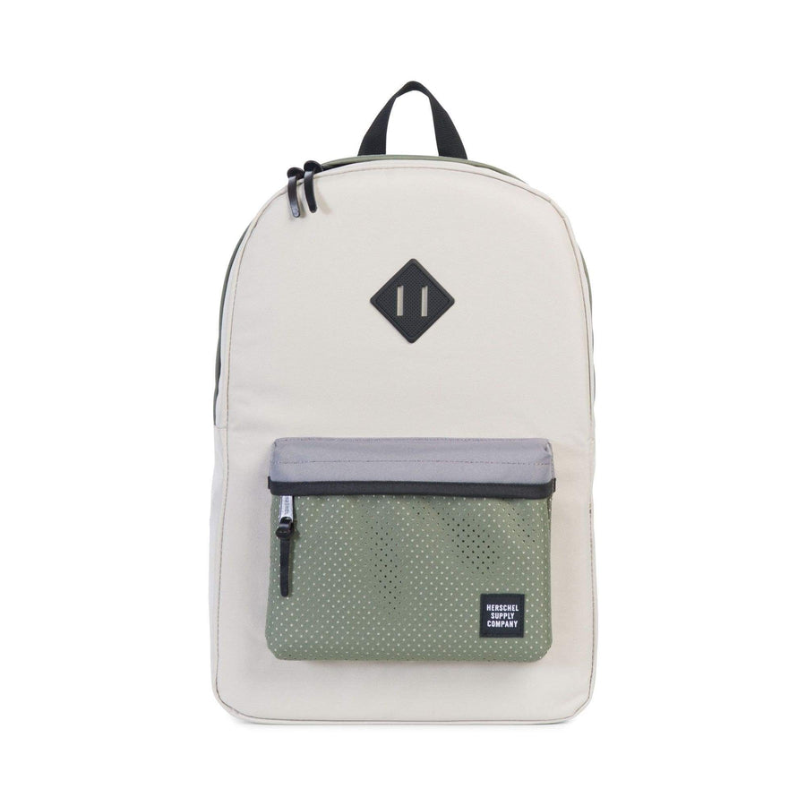 herschel zaini,HERITAGE ASPECT BACKPACK • 1404 PELICAN/DEEP LICHEN GREEN/BLACK RUB, image 1