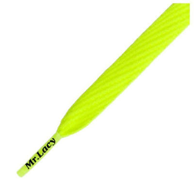 lacci mr lacy MRLACY FLATTIES LACES  • NEON LIME