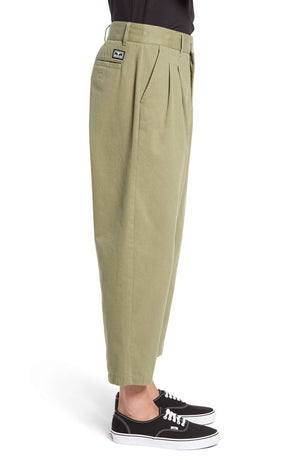 obey Fubar Pleated Pant Burnt Olive foto 5