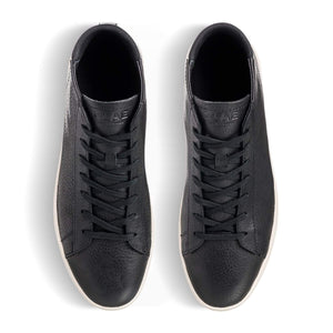 clae Bradley Mid Black Pebbled Leather foto 4