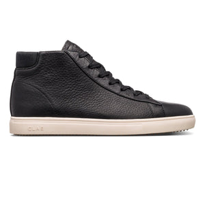 clae Bradley Mid Black Pebbled Leather foto 2