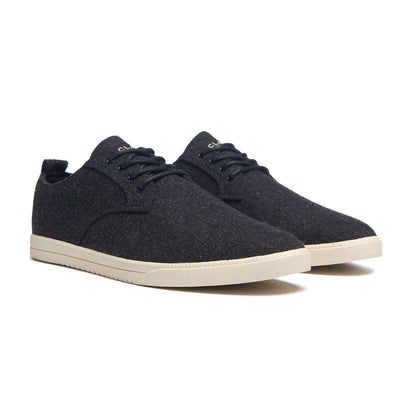 scarpe clae ELLINGTON TEXTILE BLACK WOOL CREAM