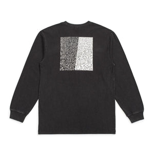 brixton Crowd Ii L/S Tee Black foto 2