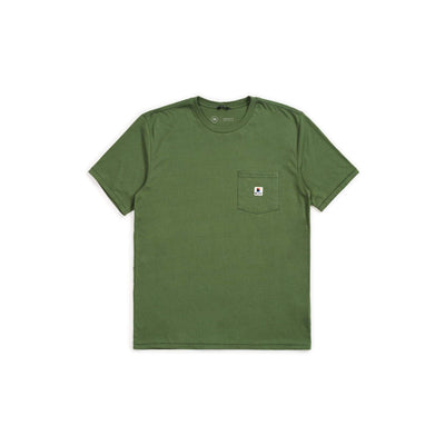 t-shirt brixton STOWELL S/S POCKET TEE LEAF