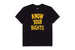 t-shirt brixton STRUMMER KNOW YOUR RIGHTS II S/S TE BLACK