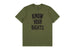 t-shirt brixton STRUMMER KNOW YOUR RIGHTS II S/S TE MILITARY GREEN