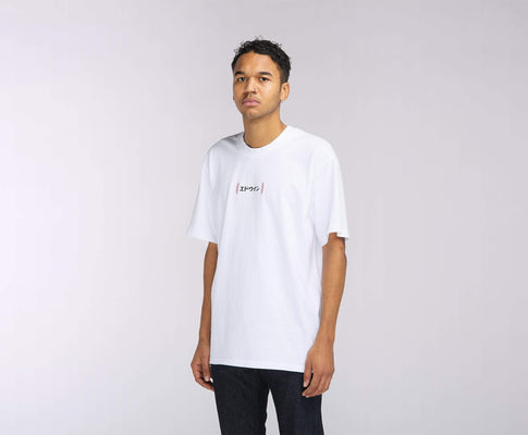t-shirt edwin AURORA TS WHITE GARMENT WASH