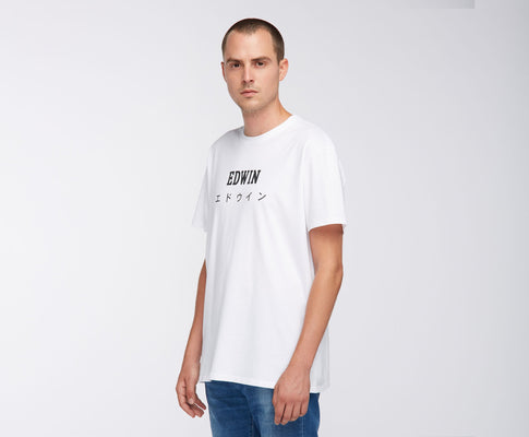t-shirt edwin EDWIN JAPAN TS WHITE GARMENT WASH