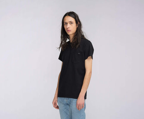 t-shirt edwin POCKET TS BLACK GARMENT WASH