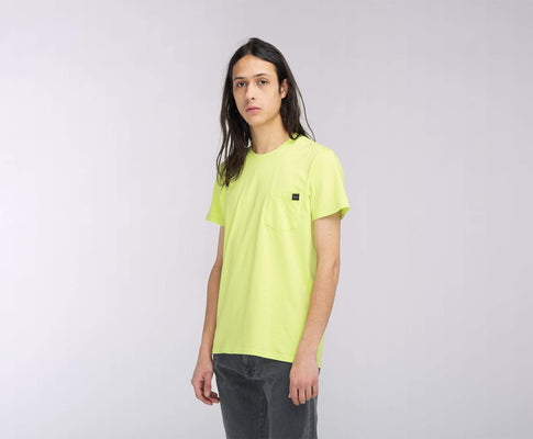 t-shirt edwin POCKET TS SHARP GREEN GARMENT WASH