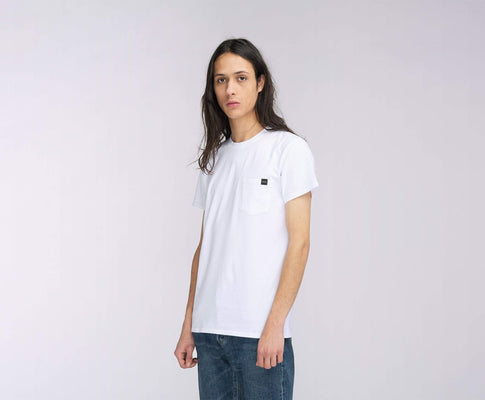 t-shirt edwin POCKET TS WHITE GARMENT WASH