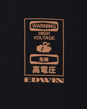 Edwin Warning Ts Black foto 5