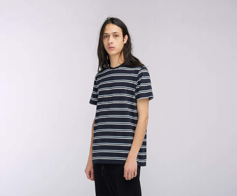 t-shirt edwin WEST STRIPE TS NAVY STRIPE