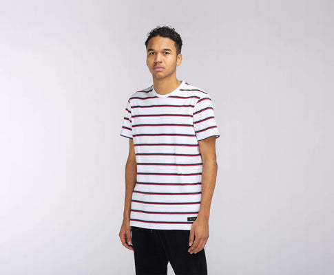 t-shirt edwin WEST STRIPE TS WHITE STRIPE