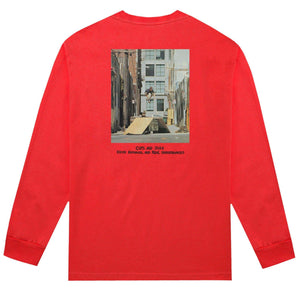 huf Cups And Jugs L/S Tee Red foto 2
