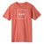 t-shirt huf ESSENTIALS BOX LOGO S/S TEE MANDARIN RED