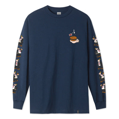 t-shirt huf WIMPY L/S TEE NAVY