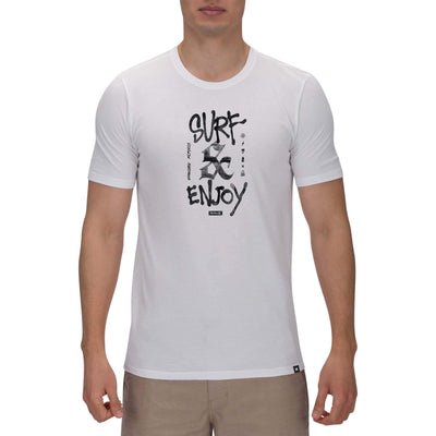 t-shirt hurley DRI-FIT SURF AND ENJOY S/S WHITE