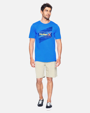 hurley Everyday Wash Oao Slashed Ss Signal Blue foto 2