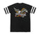 t-shirt loser machine GLORY BOUND TWO STRIPE JERSEY BLACK/WHITE
