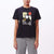 t-shirt obey DARK ENTRY SHRUNKEN TEE BLACK
