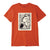 t-shirt obey ETCHING OFFSET CLASSIC TEE POPPY RED